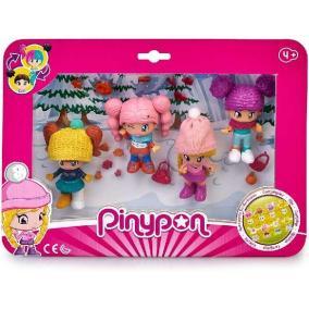 Pinypon - 4 darabos figurakészlet, téli ruhában