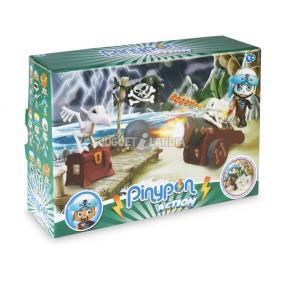 Pinypon Action - csontváz kalóz figura és hű társa, ágyúval