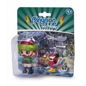 Pinypon Action - kalóz figura papagájjal