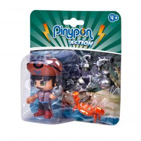 Pinypon Action - kalóz figura rákkal
