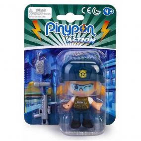 Pinypon Action - rendőr figura fegyverrel