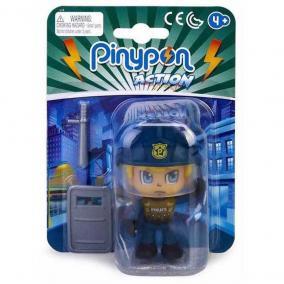 Pinypon Action - rendőr figura pajzzsal
