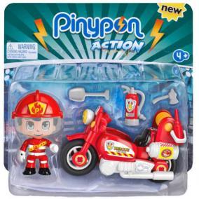 Pinypon Action - tűzoltó motorbiciklivel