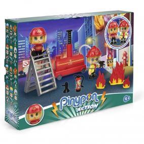 Pinypon Action - tűzoltóegység 2 figurával, kiegészítő doboz