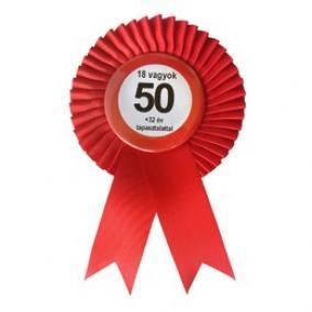 Piros Szalagos Nem vagyok 50... Sebességkorlátozó Szülinapi Parti Kitűző