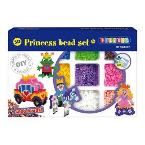 Playbox 3D Gyöngykép figurák, 4000 db - hercegnő