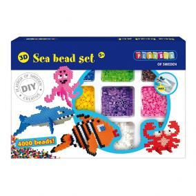 Playbox 3D Gyöngykép figurák, 4000 db - tenger