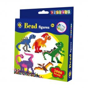 Playbox Gyöngykép figurák, 2000 db - dínók