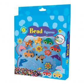 Playbox Gyöngykép figurák, 2000 db - kutya, autó, hal, virág