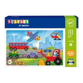 Playbox Gyöngykép figurák, 4000 db - járművek