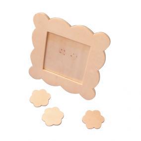 Playbox Képkeret fa, festhető, 10x10 cm, 6 db