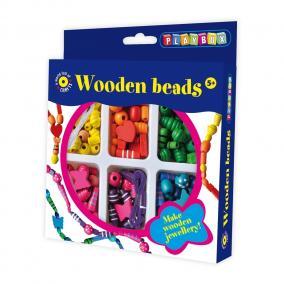 Playbox Kreatív szett - fa gyöngyök