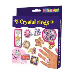 Playbox Kreatív szett - kristály gyűrűk