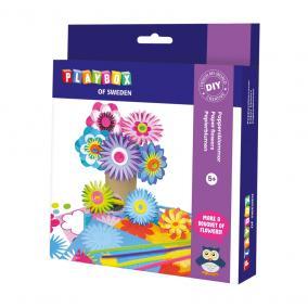 Playbox Kreatív szett - papírvirágok