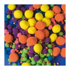 Playbox Pom-Pom, vegyes méret, neon, 500 db