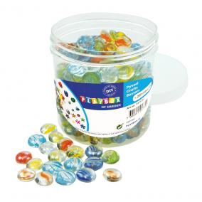Playbox Üveg kavicsok 17-19 mm, 200 db