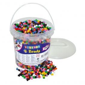 Playbox Vödör vasalható gyöngyökkel, 5000 db, 10 szín