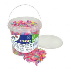 Playbox Vödör vasalható gyöngyökkel, 5000 db, áttetsző színek