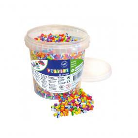 Playbox Vödör vasalható gyöngyökkel, 5000 db, csíkos