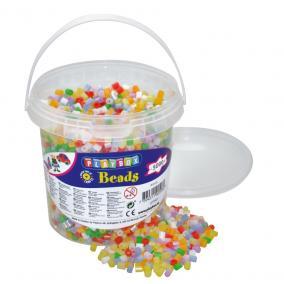 Playbox Vödör vasalható gyöngyökkel, 5000 db, gyöngyház mix