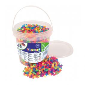 Playbox Vödör vasalható gyöngyökkel, 5000 db, neon mix