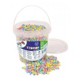 Playbox Vödör vasalható gyöngyökkel, 5000 db, pasztel mix