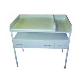 Pólyázó asztal egyes, fémvázas