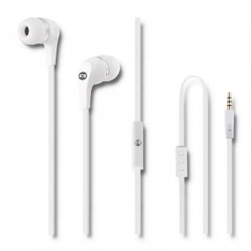 Qoltec 50801 In-Ear fülhallgató mikrofonnal fehér