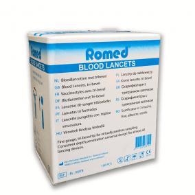 Allergia és Vérvételi lándzsahegy Romed (100db)
