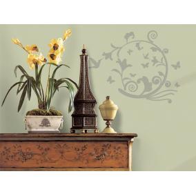 RoomMates Ovális növény dekor falmatrica 45x101cm