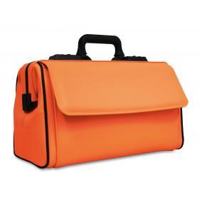 Táska Dürasol Rusticana bőr - narancssárga nagy 2 zsebes