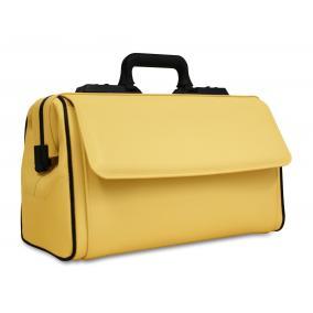 Táska Dürasol Rusticana bőr - sárga nagy 2 zsebes