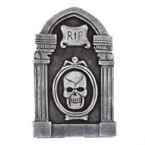 Sírkő Dekoráció Halloween-re - RIP Pókos