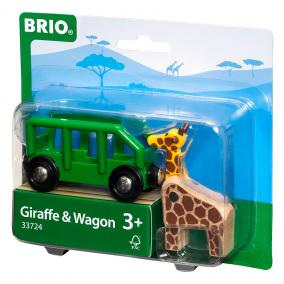 Szafari vagon állatokkal 33724 Brio
