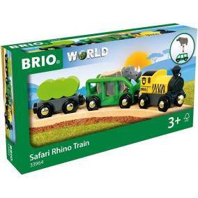 Szafari vonat rinocérosszal Brio