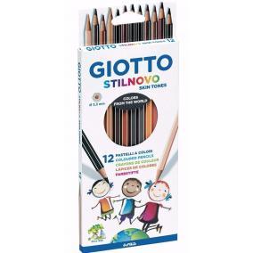 Színes ceruza 12 db-os Stilnovo bortónusok Giotto
