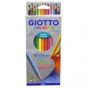 Színes ceruza 12/klt GIOTTO Stilnovo akvarell