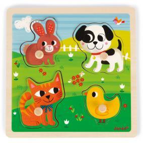Tapintós puzzle - első állataim Janod