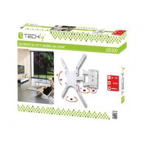 Techly 023851 fali tartó, TV LCD/LED/PDP dupla kar, 23-55 45 kg VESA, fehér