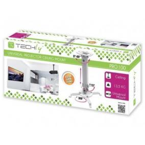 Techly Univerzális plafonkar projektorhoz 38-58 cm 13.5 kg, ezüst