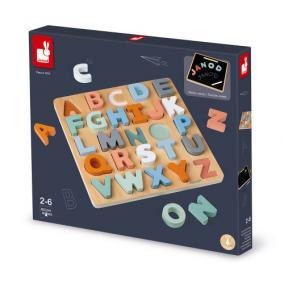 Terbeli betűk ügyességi oktató játék puzzle 04412 Janod
