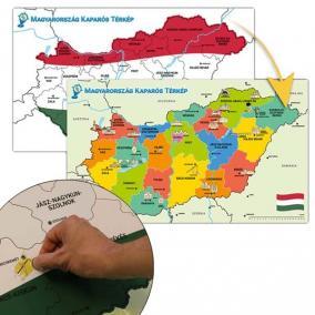 Magyarország térkép, lekaparható