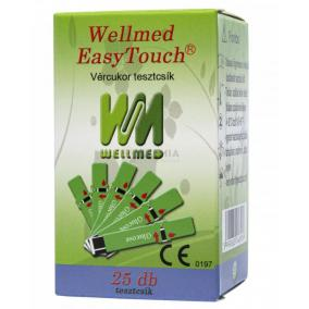 Tesztcsík Wellmed Glucose 25 db