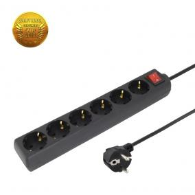 TITANUM TL140D - Power Strip SCHUKO (6 Socket) Protection, switch) Cable 3 m