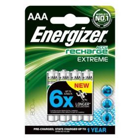 Tölthető elem, AAA mikro, 4x800 mAh, előtöltött, ENERGIZER Extreme