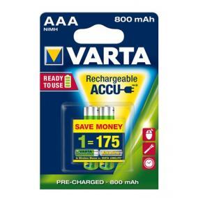 Tölthető elem, AAA mikro, 2x800 mAh, előtöltött, VARTA Longlife Accu