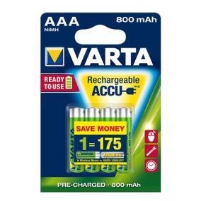 Tölthető elem, AAA mikro, 4x800 mAh, előtöltött, VARTA Longlife Accu