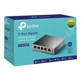 TPLINK TL-SG1005P TP-Link TL-SG1005P PoE Switch 5x10/100/1000Mbps 4x PoE 56W budget steel
