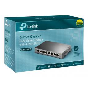 TPLINK TL-SG108PE TP-Link TL-SG108PE 8-port Gigabit Desktop Switch Easy Smart with 4-Port PoE