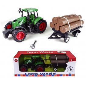 Traktor utánfutóval 24,5 cm